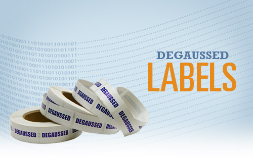 Degaussed labels