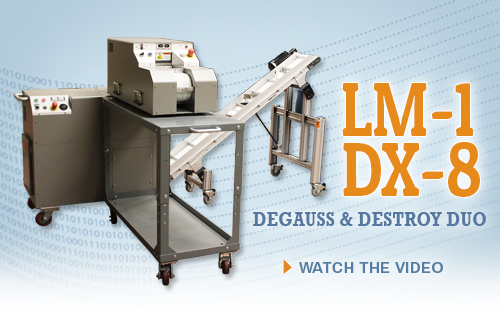 LM-1/DX-8 degauss and destroy system