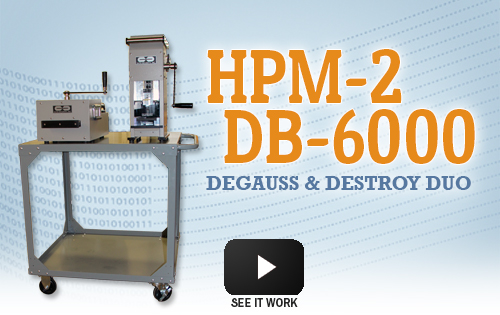 HPM-2/DB-6000 Degauss and Destroy Duo